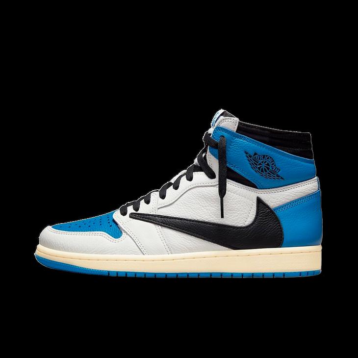 트래비스 스캇 × 프라그먼트 × 에어 조던 1 하이 밀리터리 블루 (DH3227-105)